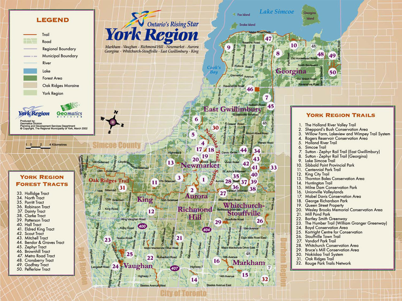 Map Of York Region York Region Trails Map   Experience York Region Map Of York Region