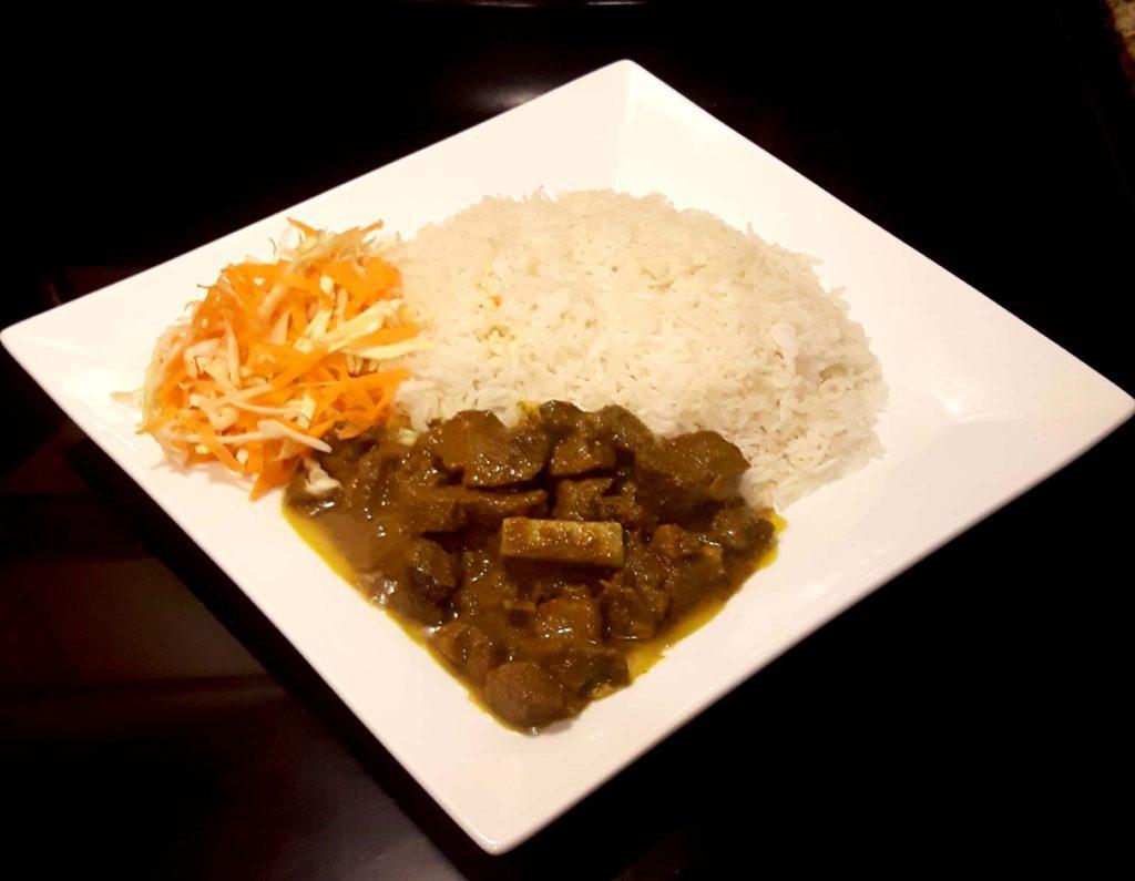 curried mutton dinner